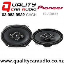 "Pioneer TS-A6886R 6x8"" (5x7"") 350W (60W RMS) 4 Ways Coaxial Car Speakers (pair) with Easy Finance"