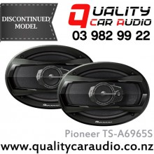 "Pioneer TS-A6965S 6x9"" 400W 3 Ways Coaxial Car Speakers (Pair) with Easy LayBy"