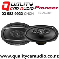 """Pioneer TS-A6980F 6x9"""" 650W (100W RMS) 4 Way Coaxial Car Speakers (pair) with Easy Payments"""
