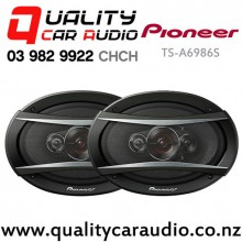 "Pioneer TS-A6986S 6x9"" 600W (100W RMS) 4 Ways Coaxial Car Speakers (pair) with Easy Layby"