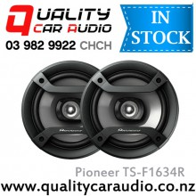 "Pioneer TS-F1634R 6.25"" 2-Way 200W Coaxial Car Speakers (Pair) with Easy LayBy"