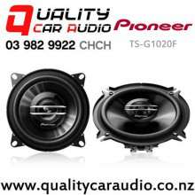 "Pioneer TS-G1020F 4"" 210W (30W RMS) 2 Way Coaxial Car Speakers (pair) with Easy Finance"