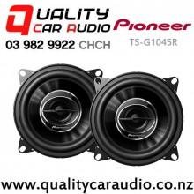 """Pioneer TS-G1045R 4"""" 210W (30W RMS) 2 Way Coaxial Car Speaker (pair) with Easy Layby"""