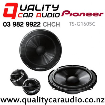 """Pioneer TS-G1605C 6""""(16cm) 280W (45W RMS) 2 Way Component Car Speakers (pair) with Easy Finance"""