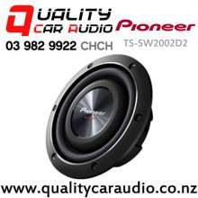 "Pioneer TS-SW2002D2 8"" 600W (150W RMS) Dual 2ohm Voice Coil Shallow-mount Car Subwoofer with Easy Layby"