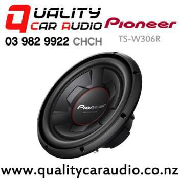 """Pioneer TS-W306R 12"""" (30cm) 1300W (350W RMS) Single Voice Coil Car Subwoofer with Easy LayBy"""
