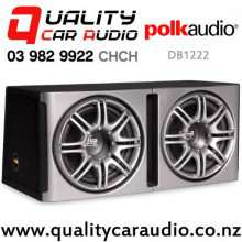 "Polk db1222 Dual 12"" 1440W (720W RMS) 2 ohm overall Car Subwoofer Enclosure with Easy Finance"