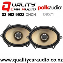 "Polk DB571 5x7"" / 6x8"" 180W (60W RMS) 2 Ways Coaxial Car Speaker (pair) with Easy Finance"