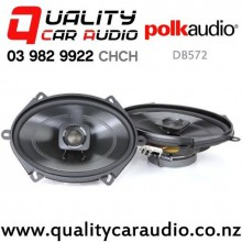 "Polk DB572 5x7"" 225W (75W RMS) 2 Way Coaxial Car Speakers (pair) with Easy Finance"
