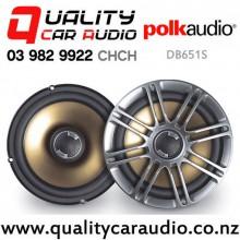 "Polk DB651S 6.5"" 165W (55W RMS) 2 Ways Slim Mount Coaxial Speakers (Pair) with Easy Finance"