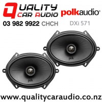 "Polk DXi 571 5x7"" 180W (60W RMS) 2 Way Coaxial Car Speakers (pair) with Easy Finance"