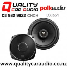 "Polk DXi651 6.5"" 180W (60W RMS) 2 Way Coaxial Car Speakers (pair) with Easy Finance"