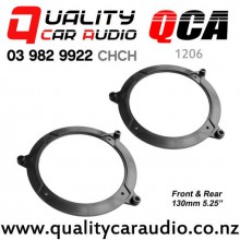 "QCA-1206 1999 - 2006 BMW 3 Series E46 Front & Rear Door 5.25"" 130mm Speaker Adaptors (Pair)"