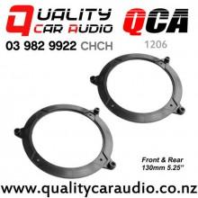 """QCA-1206 1999 - 2006 BMW 3 Series E46 Front & Rear Door 5.25"""" 130mm Speaker Adaptors (Pair)"""