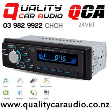 QCA-24VBT 24V Bluetooth USB AUX SD NZ Tuners 2x Pre Out Car Truck Stereo with Easy Payments