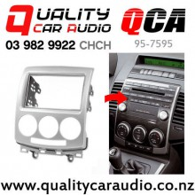 QCA 95-7595 Double Din Stereo Facial Kit for Mazda Premacy 2005 to 2010 (silver) with Easy Finance