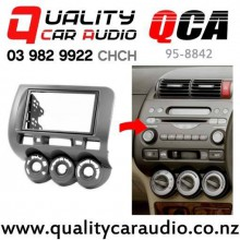 QCA 95-8842 Double Din Stereo Facial Kits for Honda Fit/Jazz 2002 to 2006 with Manual Air-condition with Easy Finance