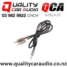QCA-A2RCA 02 3.5mm Aux to 2 RCA Male to Male Cable (1m) with Easy Payments