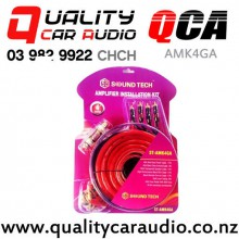 QCA-AMK4GA 4 Gauge 1800W Max Power Complete Car Amplifier Wiring Kits with Easy Finance