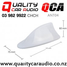 QCA-ANT04 Shark Fin Style Car Antenna (white) with Easy Finance