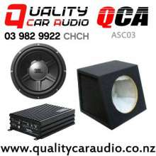 QCA-ASC03 Sound Magus DK600 Amplifier JBL GTO1214 Subwoofer QCA-SB012 Subwoofer Box Combo Deal with Easy Finance