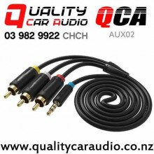 QCA-AUX02 3.5mm Jack to 3 RCA Male AV Cable 1.5m with Easy Finance