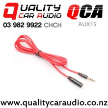 QCA-AUX15 3.5mm Male to Female Aux Extension Cable 1.2m with Easy Finance