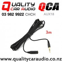 QCA-AUX18 3.5mm Female to Male Aux Extension Cable (3m) with Easy Payments