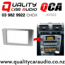 QCA-AVS02 Double Din Stereo Facial Kit for Toyota Avensis from 2002 to 2008 (silver) with Easy Finance