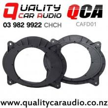 "QCA-CAFD01 6"" / 6.5"" Toyota Camry OEM Front Door Plastic Speaker Spacers (Pair)"