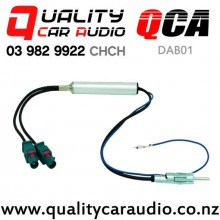 QCA-DAB01 Dual Fakra to Single Standard Aerial with Booster for New Model Volkswagen & Audi with Easy Finance