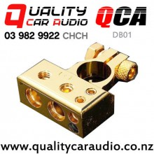QCA-DB01 4/8 Gauge Battery Distribution Block (gold color) with Easy Finance