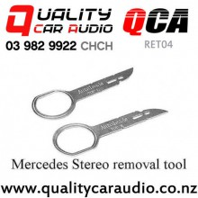 QCA-RET04 Audi Mercedes Porsche Volkswagen Factory Car Stereo Removal Keys (Pair) with Easy Finance