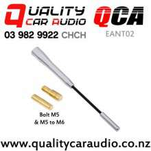 QCA-EANT02 Three Section Extendable External Car Aerial (Silver) with Easy Finance