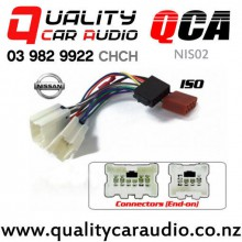 QCA-NIS02 Nissan to iso Car Stereo Wiring connector year 1995 - 2001 with Easy Finance