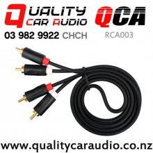 QCA-RCA003 2 Channels RCA Male to Male Cable 1m with Easy Finance