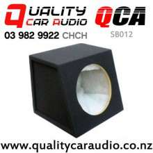 "QCA-SB012 Quality 12"" (30cm) Black Carpeted MDF Car Subwoofer Box with Easy Finance"