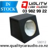 """QCA-SB012 Quality 12"""" (30cm) Black Carpeted MDF Car Subwoofer Box with Easy Layby"""