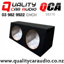 "QCA-SB210 10"" MDF Double Subwoofer Box with Easy Finance"