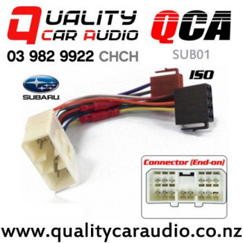qca sub01 subaru to iso car stereo wiring connector year 1995 onward rh qualitycaraudio co nz
