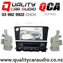 QCA-SUFA02 Double Din Stereo Facial Kit for Subaru Legacy / Outback 2003 - 2008 with Single Zone Aircon (Black) with Easy Finance