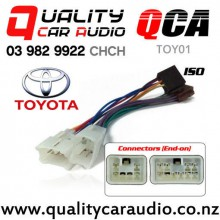 QCA-TOY01 Toyota to iso Car Stereo Wiring connector year 1987 onward with Easy Finance