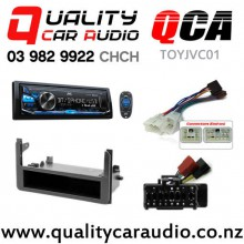QCA-TOYJVC01 JVC KD-x341 Bluetooth AUX USB NZ Tuners 2x Pre Outs Car Stereo for Toyota 200mm Combo Kits with Easy Finance