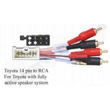 Toyota 14 pin to RCA For Toyota