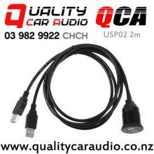 QCA-USP02 (2 Meters) Dual USB Flush Mount Panel with Easy Finance