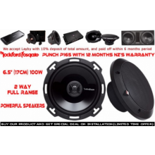 "Rockford Fosgate P1650 6.5"" 100W 2 Ways Full Range Car Speakers (Pair) with Easy Layby"