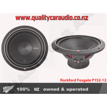 """Rockford Fosgate P1S2-12 12"""" 500W Single Voice Coil 2 ohms Car Subwoofer with Easy Layby"""