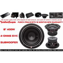 "ROCKFORD FOSGATE P1S4-8 PUNCH 8"" 400W SUBWOOFER"