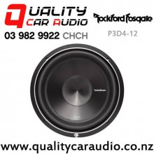 """Rockford Fosgate P3D4-12 12"""" 1200W (600W RMS) Dual 4 ohm Voice Coil Car Subwoofer with Easy Finance"""