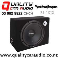 "Rockford Fosgate R1-1X12 12"" 400W (200W RMS) 4 ohm Voice Coil Sealed Subwoofer Enclosure with Easy Payments"